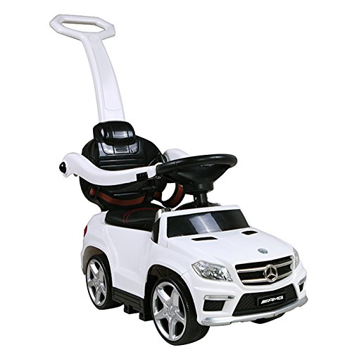 insenced Mercedez Benz Licensed Mercedes GL63 Amg Car with Removable Pushing Bar, White ()