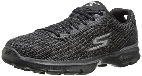 Skechers 3 Noir sport Bbk FITKNIT de femme Chaussures GO WALK 1vrn7H1
