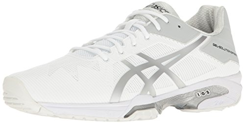 3 Asicsgel solution Gel plateado Blanco Hombres Speed solution xwqwCPaU