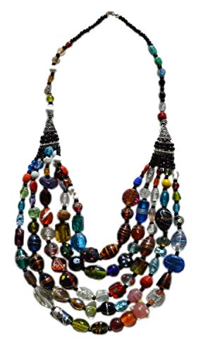 Morocan Jewerly Berber Necklace Arabic Colorfull Glass Beads