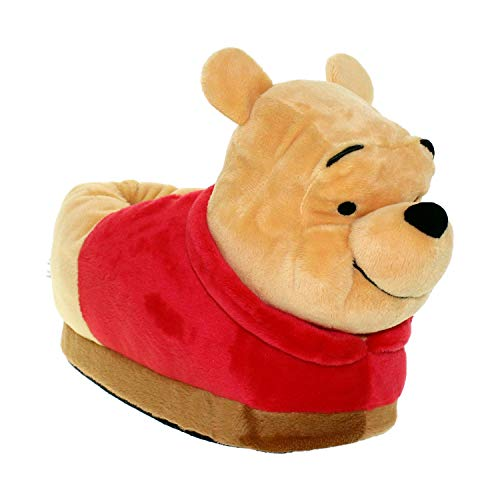 7011-1 - Disney Winnie The Pooh - Pooh Slippers - Small - Happy Feet Mens and Womens Slippers