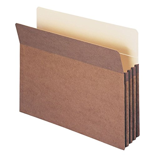 Smead File Pocket, Straight-Cut Tab, 3-1/2'' Expansion, Letter Size, Redrope, 25 per Box (73224)