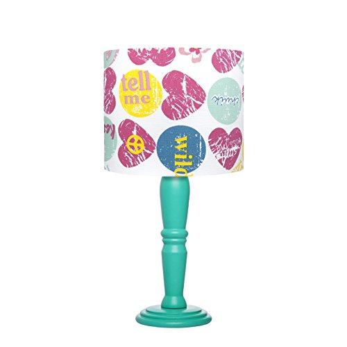 Abajur Luminária Sala Quarto Menina Lovely Estampado Carambola