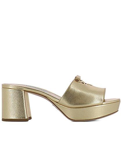 Prada Femme 1XP8883A9SF0522 Or Cuir Sandales