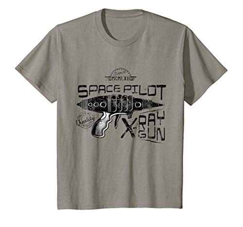 Kids Retro Space Pilot Ray Gun Sci-Fi T-Shirt -