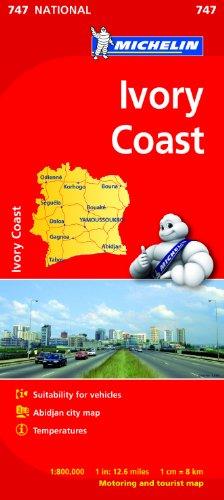 Ivory Coast (Michelin National Maps)