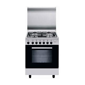 Glem Gas Cocina eléctrica a66mi 4 fuegos a Gas Horno Eléctrico Multifunción Clase A Color inoxidable