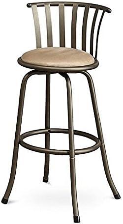 Poundex PDEX-F1431 Bobkona Lorelei 29 Seat Height Swivel Bar Stool, Brown, Set of 2