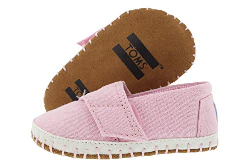 TOMS Girls' 10010040 Crib Alpargata - K Pink 3 M US Infant