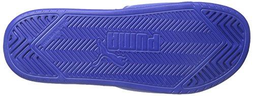 PUMA Herren Popcat Slide Sandale Schillerndes Blau / Weiß