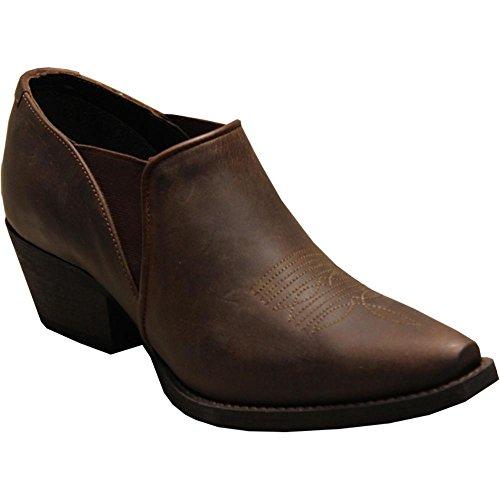(Abilene Women's Rawhide by Shoe Boot Snip Toe Brown 8.5 M)