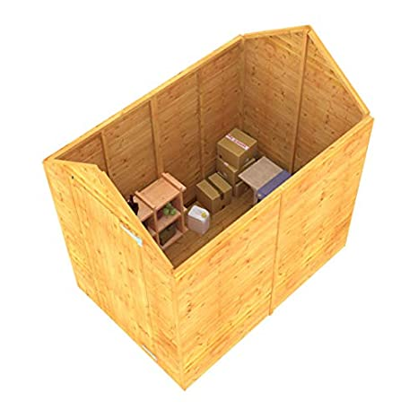 Sand Felt /& Floor Included 3ft x 4ft BillyOh 3x4 Storer Tongue /& Groove Construction Wooden Shed Windowless Single Door Apex Roof