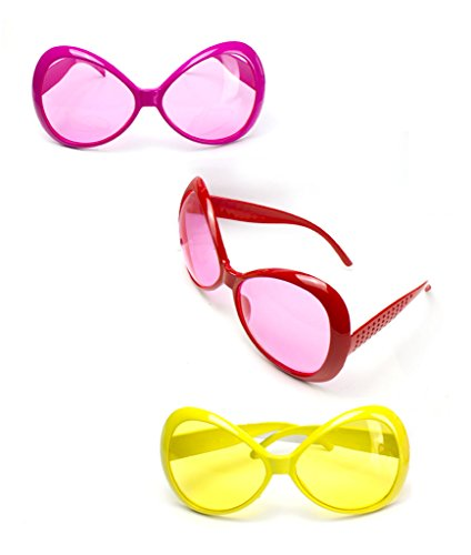 Fun Central (AT804) Jumbo Glamorous Sunglasses - Assorted 12ct