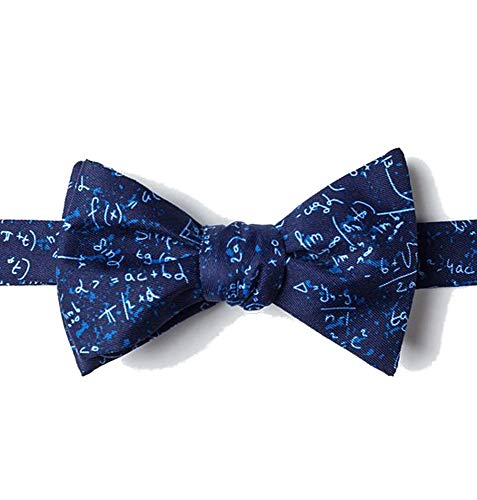 Mens Blue Microfiber Math Mathematics Equations Butterfly Self Bow -