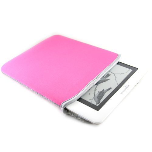 pink-gray-dx-premium-neoprene-reversible-sleeve-case-book-cover-for-amazon-kindle-2-amazon-kindle-dx
