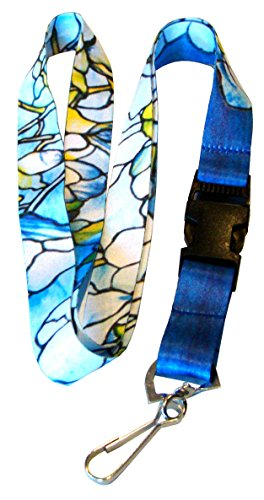 Buttonsmith Tiffany Magnolia Premium Lanyard Tiffany Magnolia