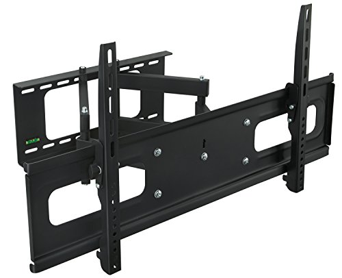 Mount-It MI-349B 948 Articulating TV Wall Mount Bracket Dual Arm Swivel Design for LCD LED 4K TVs Fits Most 37 -70 TV, VESA 200×200, 400×200, 400×400, 600×400 and More