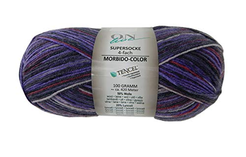 (Sock Yarn On Line Supersocke 4-Ply 4-fach Soft Color Superwash Virgin Wool Blend 459 Yards 3.5 Ounces (2244))