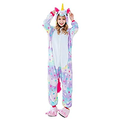 Beautyer Unicorn Onesie Pajamas Colorful Animal Sleepwear for Party Supply
