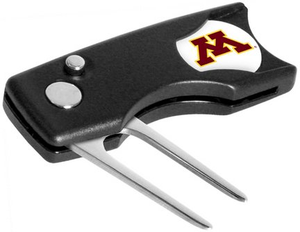 (Minnesota Golden Gophers Spring Action Divot Tool with Golf Ball Marker (Set of 2))