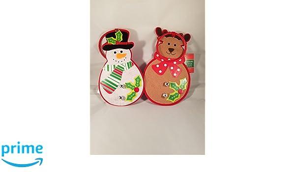 Amazon Com Christmas Door Knob Hanger Decoration Snowman And