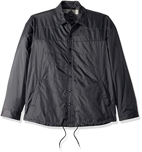 Coaches Nylon Jacket Flannel - Dickies Men's Modern Fit Nylon Shirt Jacket, Charooal, XL