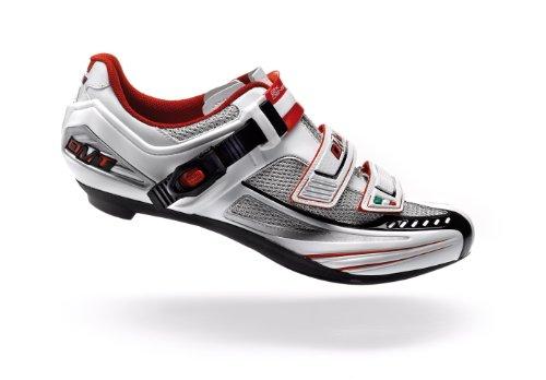 Tubo de escape de carreras de zapatos colour blanco-plata-rojo impact (tamaño: 48)