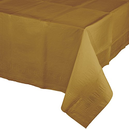 Touch of Color Plastic Table Cover, 12-Count, Glittering Gold