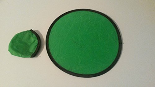 Much More For Less !! 100 Quantity Folding Toy Pocket Disc Flyer with Pouch ( GREEN ) by SHOPINUSA by SHOPINUSA