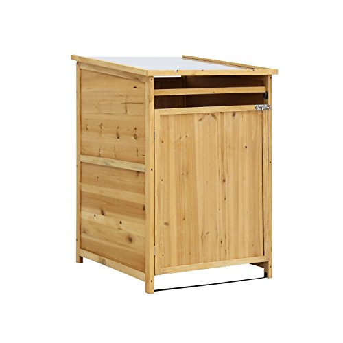 Kinbor Outdoor Wooden Storage Shed Lockers Cabinet for Garden Yard with Single Doors by Kinbor