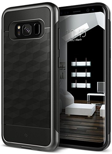 Galaxy S8 Case, Caseology [Parallax Series] Slim Dual Layer Protective Textured Geometric Cover Corner Cushion Design for Samsung Galaxy S8 (2017) – Black