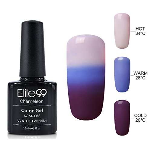 Elite99 Soak Off Gel Nail Polish,UV LED Three-color Thermal