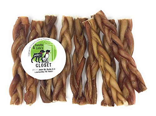 Sancho Lola s Bully Stick for Dogs – Mini 3 Rings, 5 Spirals, 6 Braids 4 Pretzels – Gourmet Beef Pizzle Beef Dog Chews – Rawhide-Free