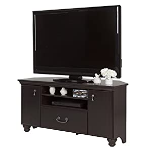 South Shore Noble Corner TV Stand - Fits TVs Up to 55'' Wide - Dark Mahogany - by