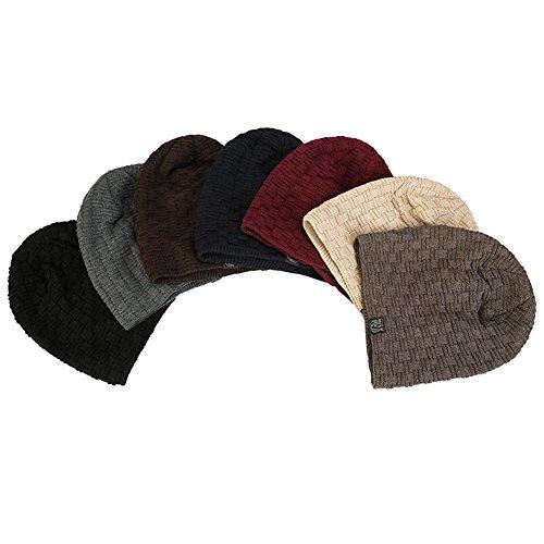 un caliente punto ocio hombre Khaki khaki de sombreros de para gorro paquete de tamaño esquí elasticidad Gorro Moda forrado holgados de Invierno de slouchy 3 zvwAOWqtU