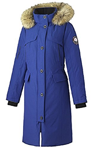 Alpinetek Women's Long Down Parka Coat (Small, Cobalt)