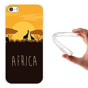 Funda iPhone SE iPhone 5 5S, WoowCase [ iPhone SE iPhone 5 5S ] Funda Silicona Gel Flexible Africa, Carcasa Case TPU Silicona - Transparente