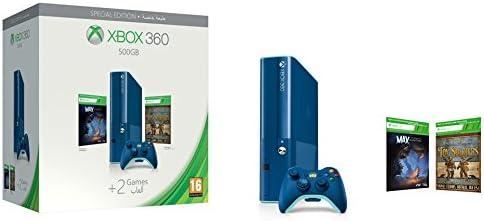 Xbox 360 - Consola 500 GB, Color Azul + 2 Juegos - Edición Especial: Amazon.es: Videojuegos