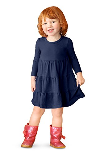 navy tiered dress - 6