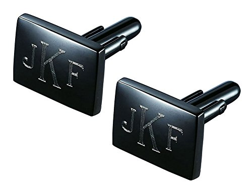 Personalized Visol Hazan Gunmetal Cufflinks with Free (Engraved Personalized Cufflinks)
