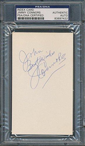 Sports Memorabilia Jimmy Connors Index Card Certified Authentic Auto Autograph Signed7422 - PSA/DNA Certified - Tennis Cut Signatures (Index Card Signature Autograph)