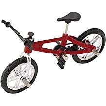 SupremeLife Finger Baby Monkey Bike, Mini Finger Bicycle, Metal Cool Toy, Creative Toy for Finger Monkey Collection, Best Christmas Gift (Red)