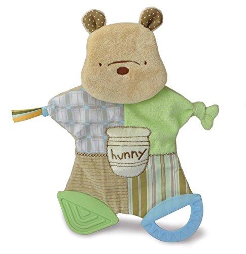 (Disney Baby Classic Pooh Flat Teether Blanky, 12.25