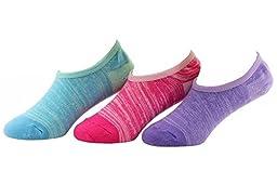 Stride Rite Big Girls\' Low Show Socks-3 Pack, Pink, Shoe Size 13-4