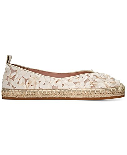 Avec Les Filles Womens Gisella Fabric Closed Toe, White/Floral, Size 11.0