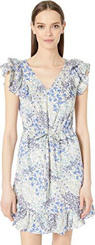 Rebecca Taylor Women's Sleeveless Ava V-Neck Dress Cream Combo - Inch 35 Cream