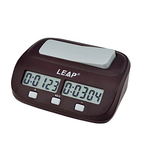 Chess Clock, LEAP Digital Chess Clock, Count Down Timer, Professional Chess Timer for Chinese Chess, I-GO, Board Game, Timing Game, Electronic Board Game, Bonus Competition Master Tournament (Board Tables Chess For Sale)