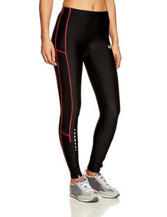 Ultrasport 10126 - Pantalones largos para mujer, color negro / rosa, talla XS