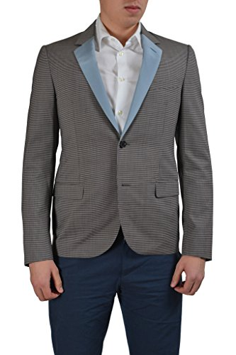 Lanvin Wool Multi-Color Checkered Two Button Men's Blazer US 42 IT 52; ()