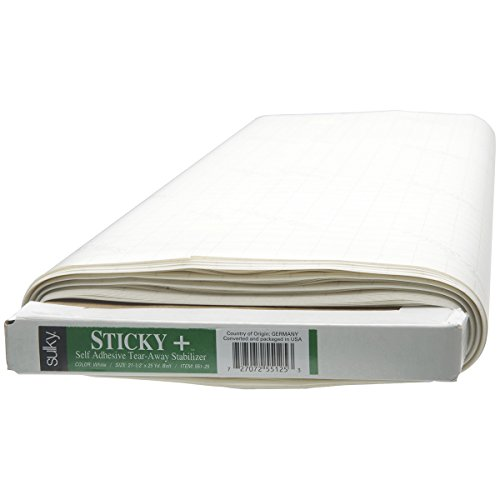 Sulky Sticky Self, Adhesive Tear, Away Stabilizer, 22.5'' by 25 yd by Sulky